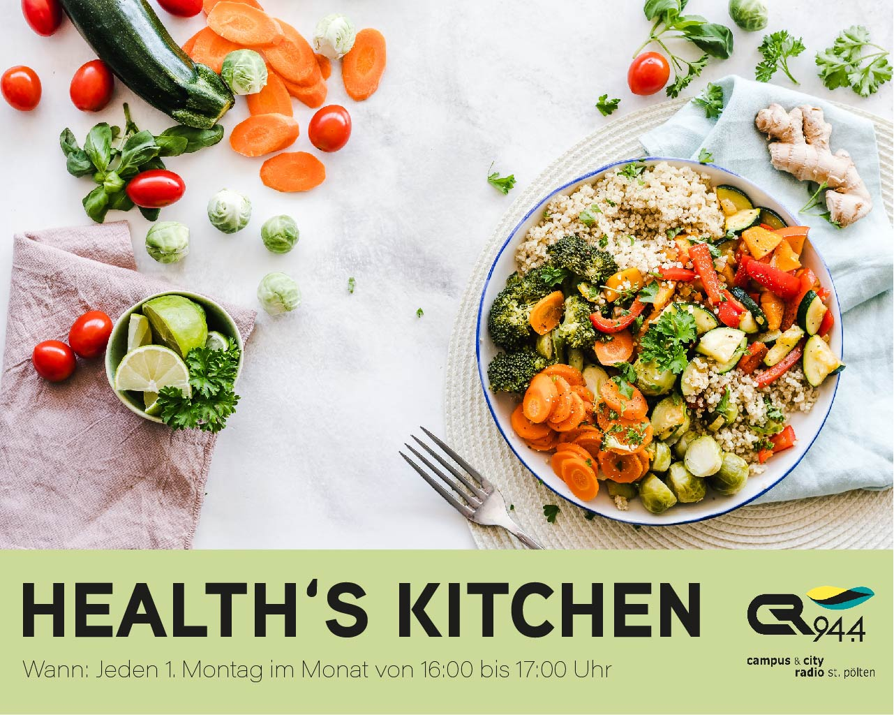 Health's Kitchen on-Air, Fr, 3.7.2020, 14 h