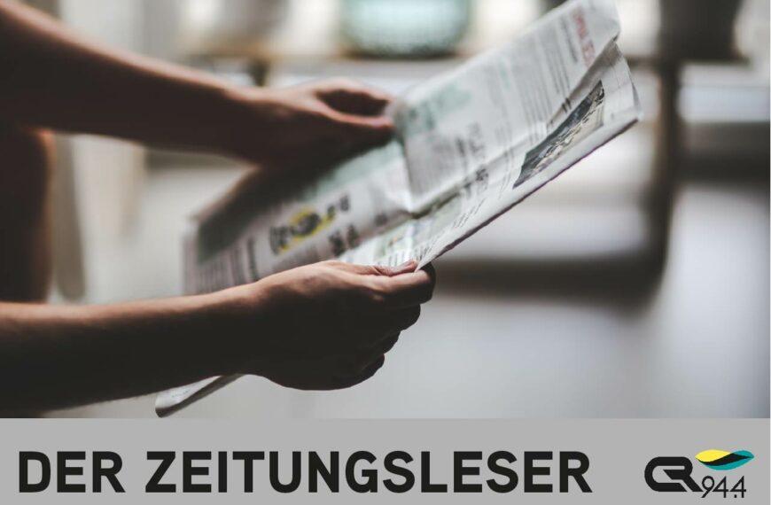 Der Zeitungsleser, Mo, 18.1.2021, 15 h