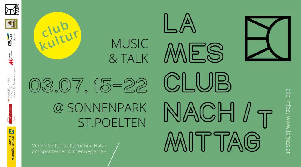 LAMES Clubnach/mittag/t – Livestream, Sa. 3.7., 15-22h